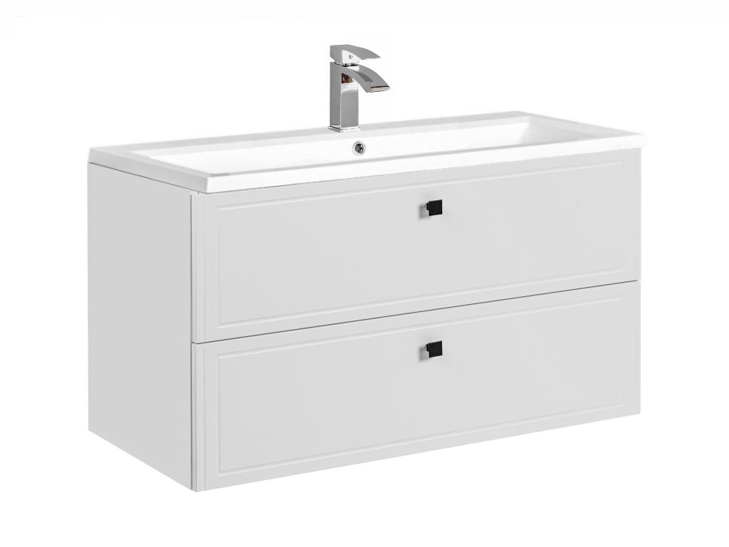 MAXIVA Závěsná skříňka pod umyvadlo - HAVANA 82-100, šířka 100 cm, bílá