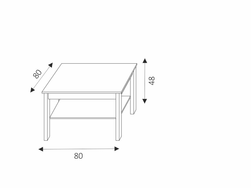 MAXIVA Konferenční stolek - CEZAR 18, dub sonoma