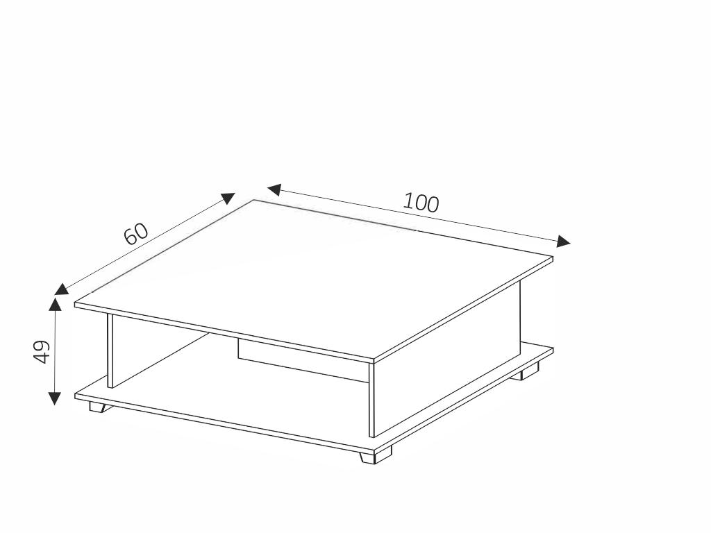 MAXIVA Konferenční stolek - MAXIMUS M9, wenge