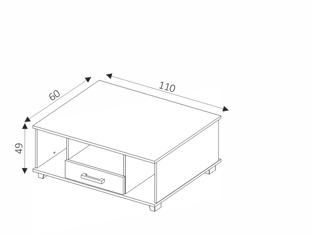 MAXIVA Konferenční stolek - MAXIMUS M32, wenge