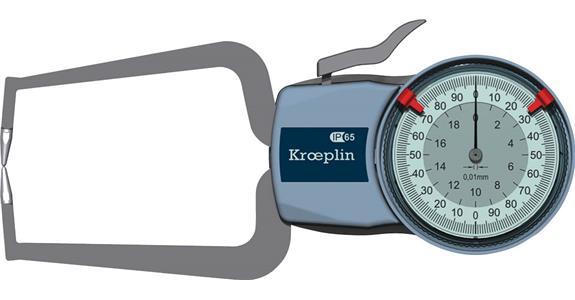 Číselníkové úchylkoměry s měřicími rameny pro vnější měření
