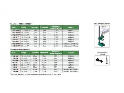 2112 10F Digitální úchylkoměr standard model Insize 12,7 mm 0,5 0,01 mm bez očka