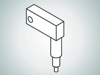 ULV-A Swivel element, long, 45°-L50-type A spring drive Mahr