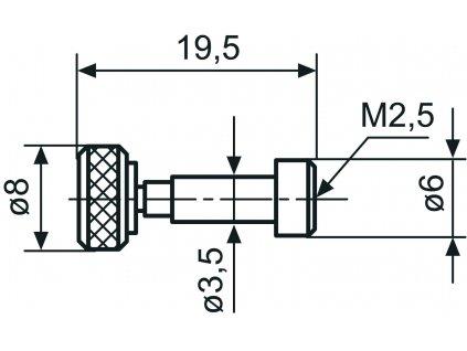 844 Tad Adapter Ø 3,5 - M2,5 Mahr