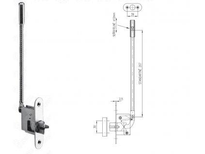 Automatická dveřní zástrč 27HZ (Otevírání levé)