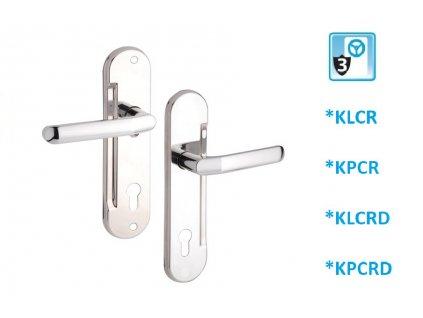BERA klika/klika - chrom - lesk, rozteč 92mm (TYP KLCR)