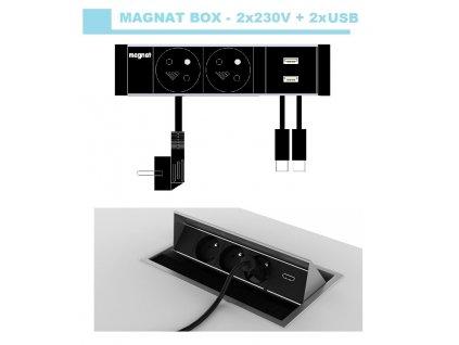 706 magnat box 019 2x 230v 2xusb