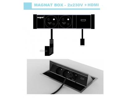 709 magnat box 020 2x 230v hdmi