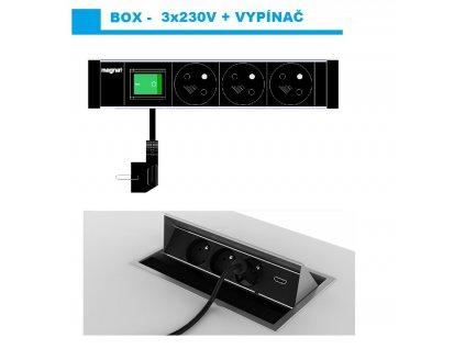 661 magnat box 023 3x 230v vypinac