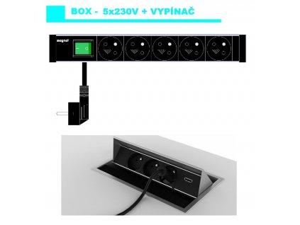 658 magnat box 024 5x 230v vypinac