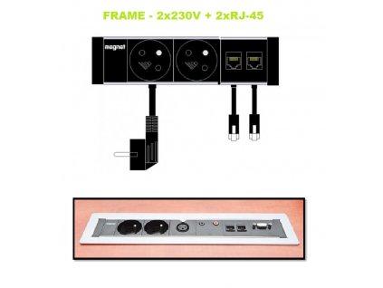 778 magnat frame 018 2x 230v 2xrj 45