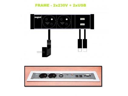 769 magnat frame 019 2x 230v 2x usb