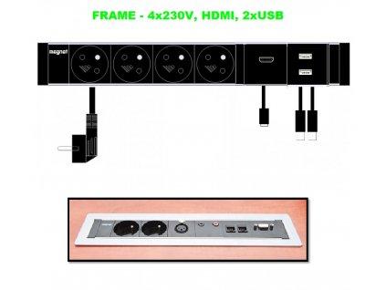 427 magnat frame 031 4x 230v hdmi 2xusb