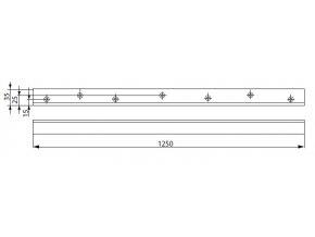1243 a117 montazni plech l stredovy g461 464