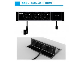 676 magnat box 010 3x 230v hdmi