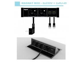 415 magnat box 018 2x 230v 2x rj 45