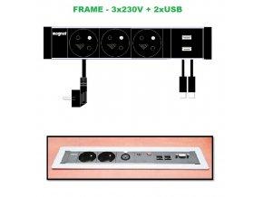 688 magnat frame 009 3x 230v 2xusb