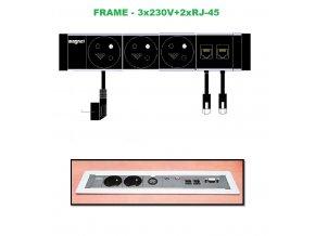 802 magnat frame 011 3x 230v 2xrj 45
