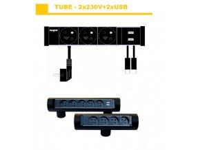 835 magnat tube05 3x230v 2xusb 2 0