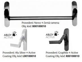 Mechanická paniková  hrazda PBE011 (Barva Alu silver+Active coating)