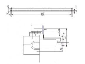 Montážní plech A130 (Barva stříbrná)