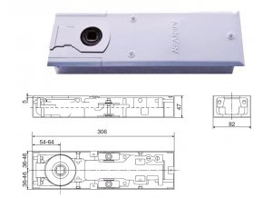 1147 podlahovy dverni zavirac dc420