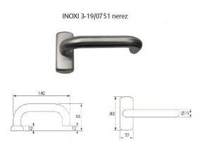 Vnější kování pro hrazdy PBE 011 pro EL460 (Barva Alu silver+Active coating)