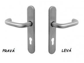 Vnější štít 9400 - klika, nerez (Otevírání levé)