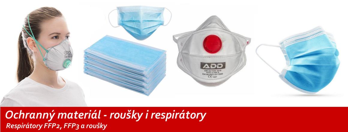 Ochranný materiál - roušky i respirátory