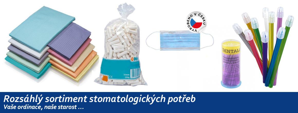 Rozsáhlý sortiment stomatologických potřeb