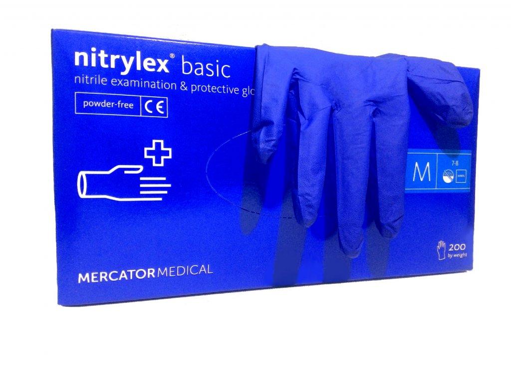 NITRYLEX BASIC - Nitrilové rukavice (bez pudru) tm. modré 63fd221bad