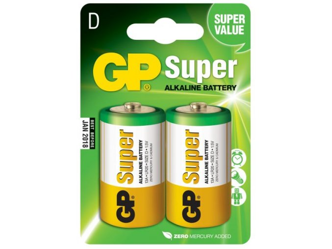 Baterie gp super alkaline lr20 D