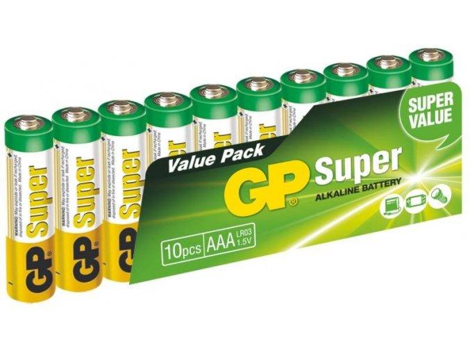 Baterie gp super alkaline lr03 10sh AAA