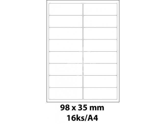 print etikety emy 98x35 mm 16ks arch 100 archu samolepici