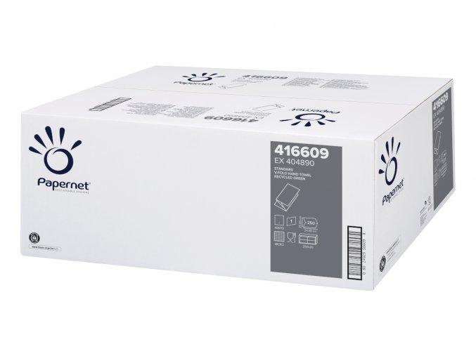 Papírový ručník skladu V, 1-vrstvý STANDART, zelené 5000 ks