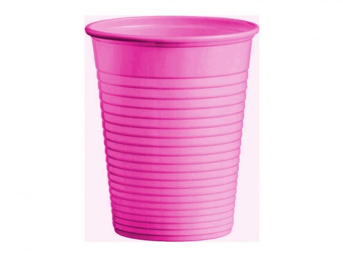 Kelímek na vodu 0,2L, tm. růžový - 100 ks