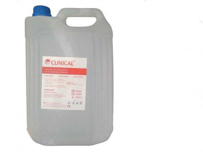 CLINICAL – ultrazvukový gel, čirý 5 L, kanystr