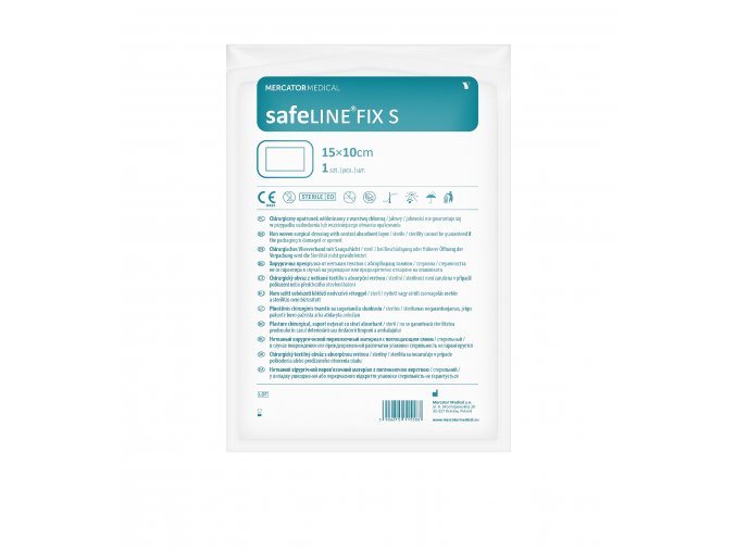 safeline fix s netkana naplast s absorpcni vrstvou 15 cm x 10 cm
