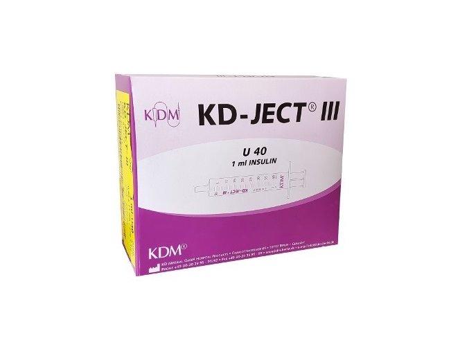 strzykawka insulinowa kd ject iii z igla g27 u 40