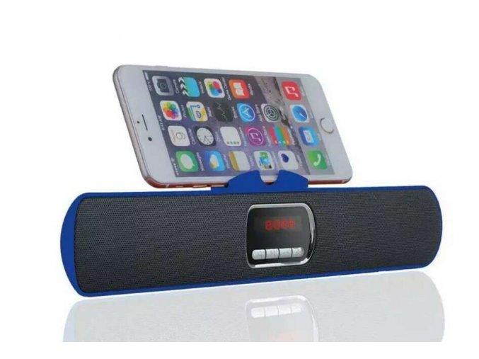 Bezdrátový bluetooth reproduktor S605 + FM rádio (Barva Stříbrná)