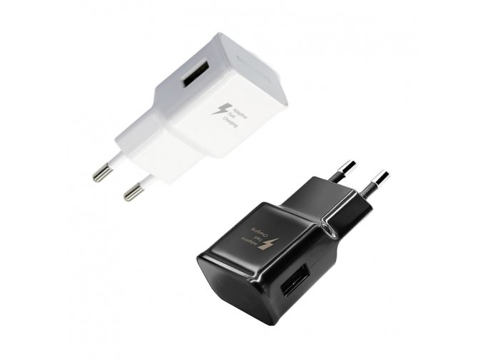 Univerzální USB nabíječka, USB slot, černá/bílá (Barva Černá)