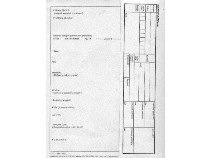 zdravotni zaznam 21x28cm mensi