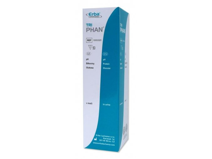 triPHAN – pH, bílkoviny, glukosa, 50 ks v balení 800x800