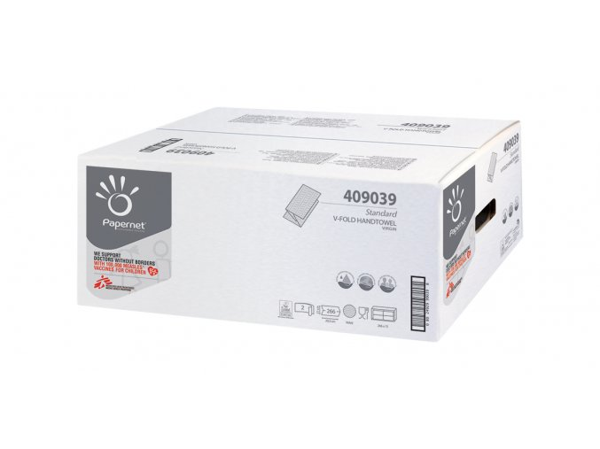 Papírový ručník skladu V, 2-vrstvý STANDART 3990 ks