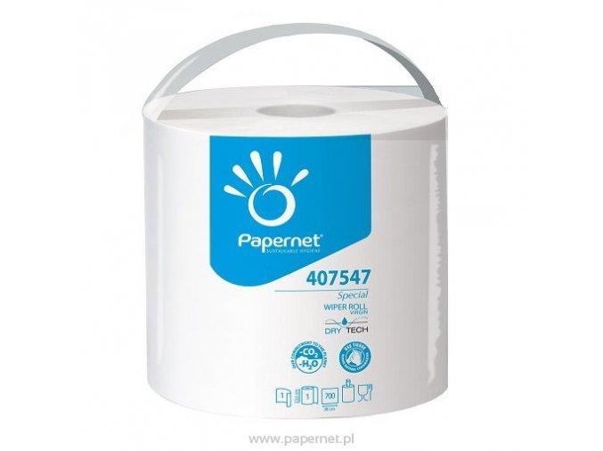 PAPERNET DryTech Special papírová utěrka v roli 1-vrstvá, 24 cm návin 266 m