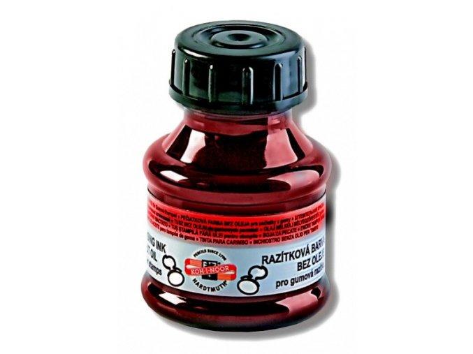 Razítková barva 50ml, červená