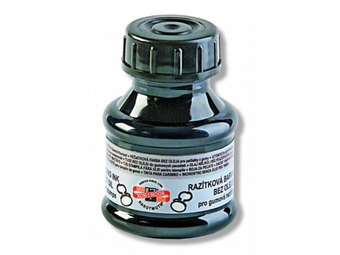 Razítková barva 50ml, černá