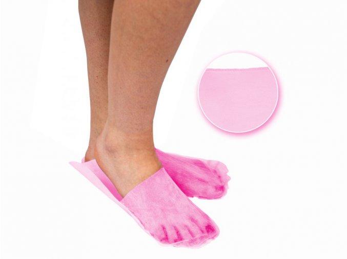 Jednorázové pantofle, růžové, NORMAL
