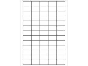 Samolepicí bílé etikety 38,1 x 21,2 mm, A4, 100ks