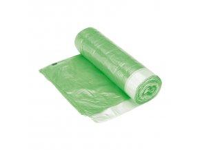 Pytel LDPE 60L, 630 x 740mm 30 micronů (8 - 10kg) - zelený se zatahovací šňůrkou